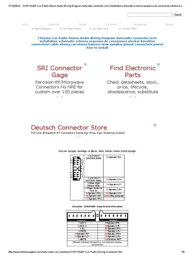 Chrysler car radio stereo audio wiring diagram autoradio connector chrysler car radio stereo audio wiring diagram autoradio connector wire installation schematic schema esquema de conexiones stecker konektor connecteur publicscrutiny Images