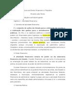 Curso de Direito Financeiro e Tributário (resumo cap 1)