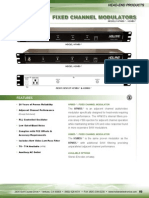 Holland Electronics HSM55 Saw Filtered Adjacent Channel Rack Mount Rf Modulator Spec Sheet