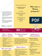 brochure on asu writing certificate program   tappendorf