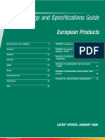 European Oil Product Specs