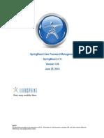 SpringBoard User Password Documentation SB7 V5