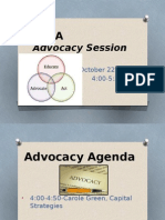 2015 Advocacy Presentation at Convention