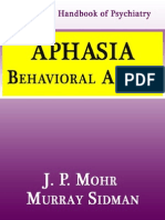 Aphasia Behavioral Aspects- j p Mohr Murray Sidman
