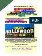 HOLLYWOOD-2-HOLYWOOD BLOG LINKS