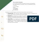 Estructura de Un Artículo Informativo