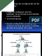 Procedimientos de Configuración de Las ACL Estándar