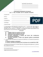 Dichiarazione esenzione Enpals