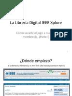 La Librería Digital IEEE Xplore
