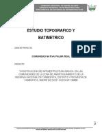 levantamiento topofgrafico y batimetrico