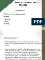 Team Bldg Skills II Listening Skills