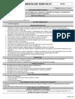 Ordem de Serviço Motorista de Caminhão de Material Reciclado