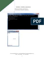 Variables y Operaciones Java