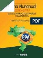 Ppa 2016 2019 Mensagem Presidencial