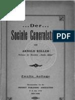 Arnold Roller  - Der Sociale Generalstreik (1907)