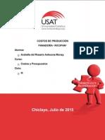 COSTOS DE PRODUCCIÓN DE UNA PANADERÍA