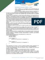 La Programación Orientada a Objetos – Parte I