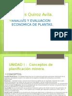 UNIDAD I Analisis y Evalucion Economica de Plantas