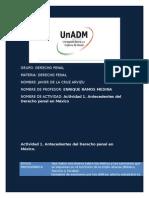 Actividad 1. Antecedentes Del Derecho Penal en México