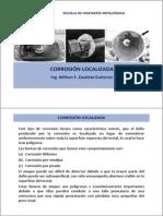 Corrosión localizada (filiforme -rendijas) 2013