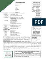 Bulletin Announcements 3-19-10