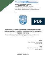 Analisis de La Relacion Entre El Comportamiento Del Desempleo y Del Producto Interno Bruto en Venezuela_molero_oliva_leobaldo_enrique