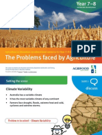 The Problems faced by Agriculture