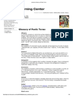 Literature_Glossary of Poetic Terms