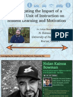Investigating the Impact of a Gamified Unit of Instruction on Student Learning and Motivation