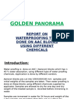 Final Report on Waterproofing