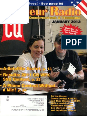 CQAR 2012-01 (Jan) | Software Defined Radio | Federal Communications