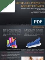 Costos Del Proyecto Arquitectónico