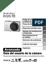 Manual de Camara Canon Ixus 70