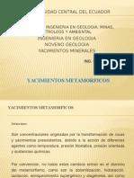 YACIMIENTOS METAMORFICOS - Carlomagno Aguas Cobeña
