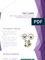 Statutory Construction (Tax Laws)