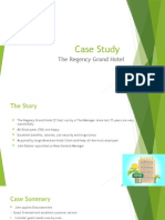 Case Organizational Behavior- case Regency Hotel
