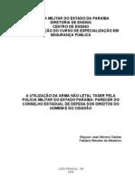 UTILIZAÇÃO DA ARMA NÃO LETAL TASER PELA POLICIA MILITAR DO ESTADO DA PARAIBA