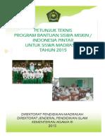 Juknis BSM Kemenag Tahun Anggaran 2015