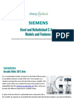 Refurbished Siemens C Arm Models