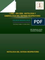 Uss 2015 i. Histologia y Embriologia Del Sistema Respiratorio