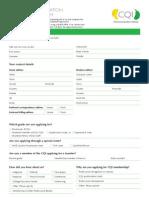 CQI 5pp Membership Application Form