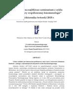 Seminarium Polskiego Towarzystwa Fenomenologicznego - Daubert