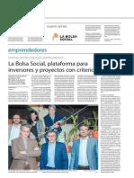 La Bolsa Social, plataforma para inversores y proyectos éticos