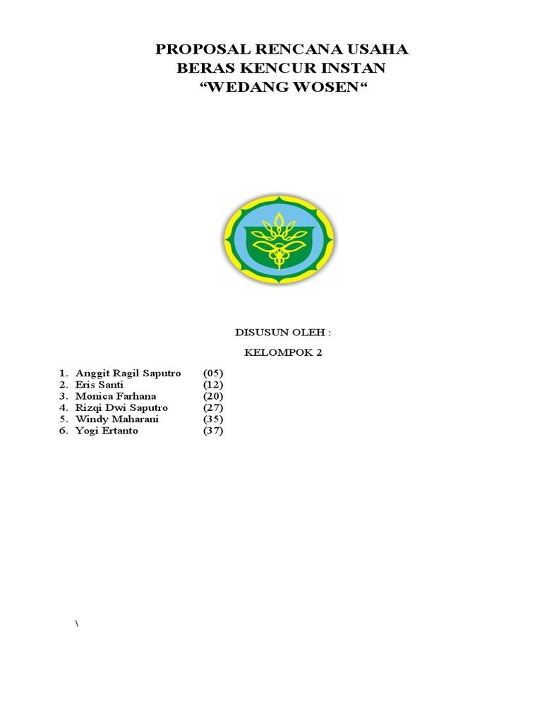 Proposal Beras Kencur Docx
