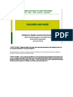 Noise&Childrens_training for Health Care Providers