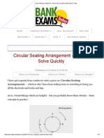 Circular Seating Arrangement – How to Solve Quickly _ Bank Exams Today