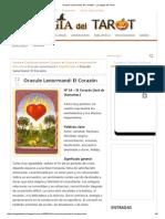 Oraculo Lenormand_ El Corazón - La Magia Del Tarot