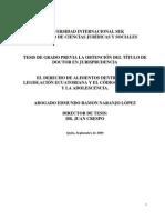El Derecho de Alimentos Dentro de La Legislación Ecuatoriana y El Código de La Niñez y La Adolescencia.