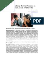 Judith Butler y Beatriz Preciado en Entrevista Con La Revista Tetu