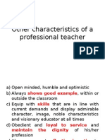 Other Characteristics of a Professional Teacher